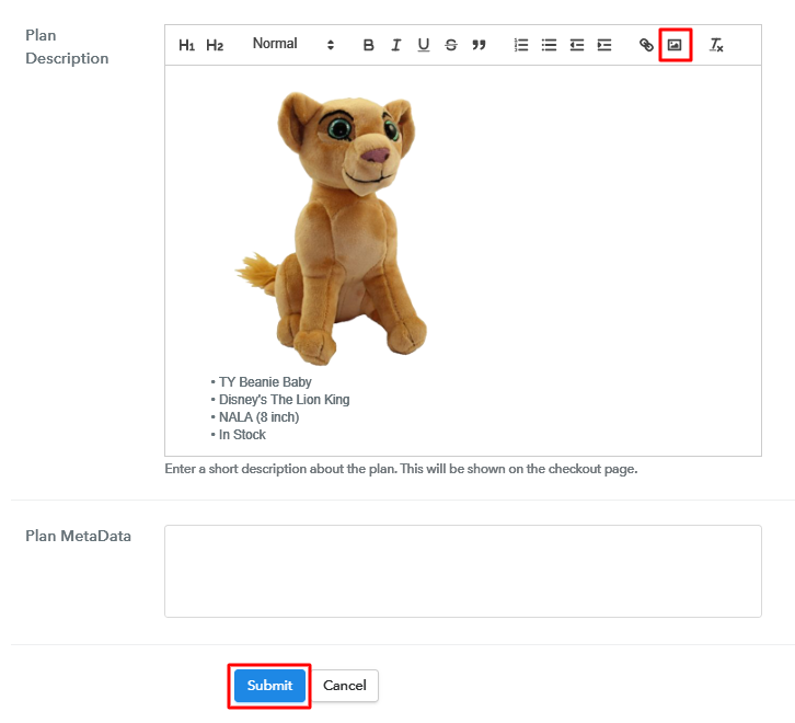 Add Image & Description to Sell Beanie Babies Online