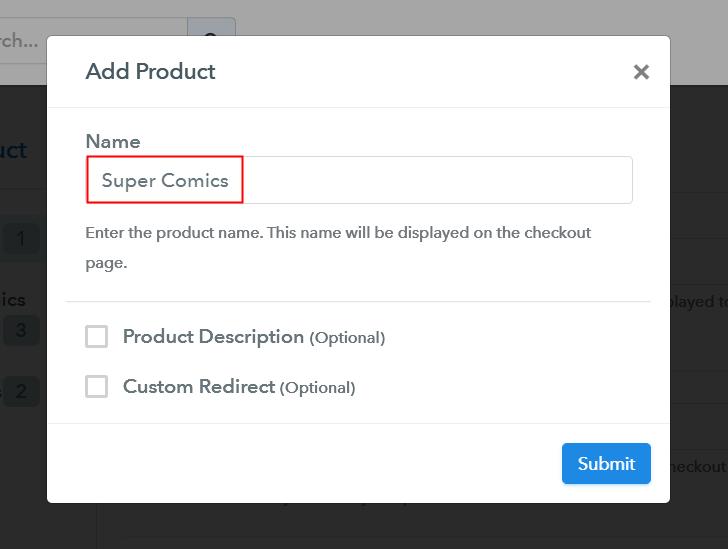 Add Product Sell Comics