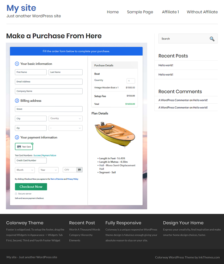 Embed Checkout To Start Boat Business Online
