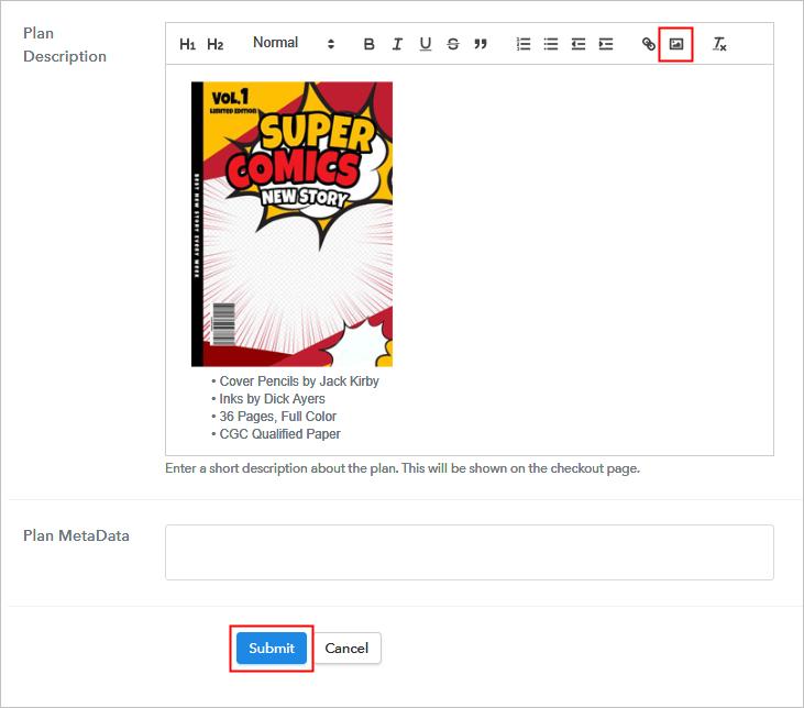 Add Plan Description Sell Comics Online