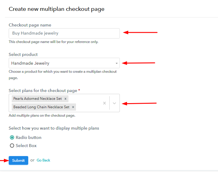 Create Multiple Checkout