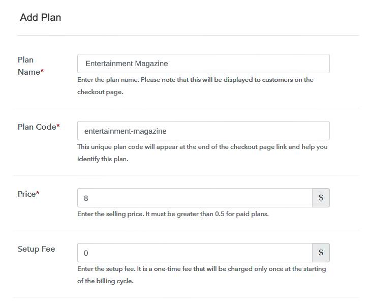 Add Plan Details to Sell Magazine Online