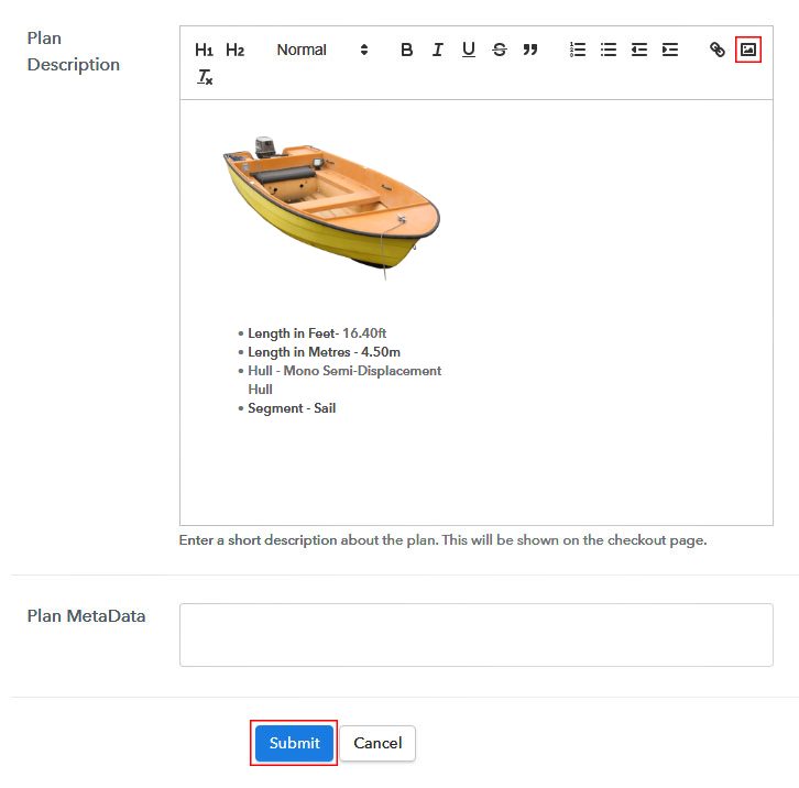 Plan Description To Sell Boat Online