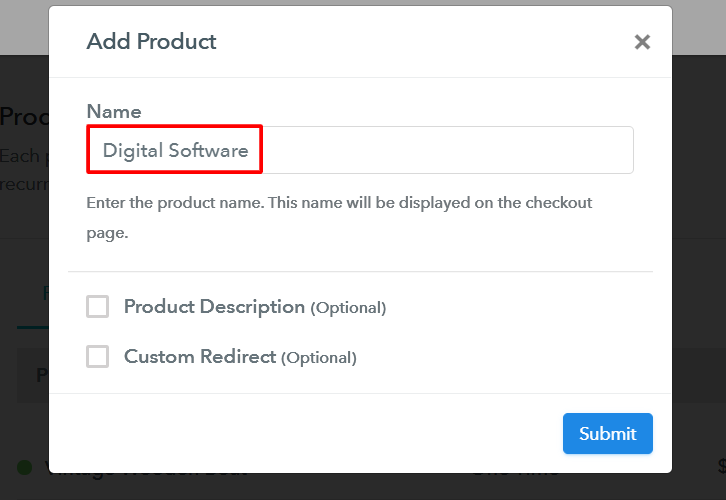 Add Your Product to Sell Software