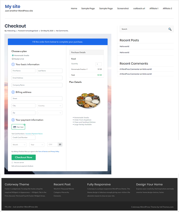 Embed Checkout Page to Website