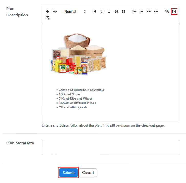 Add Image & Description to Sell Grocery Items Onlne