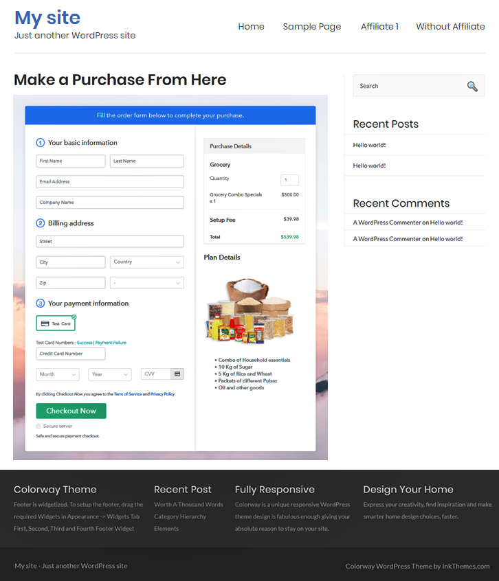 Embed Checkout to Start Grocery Business Online