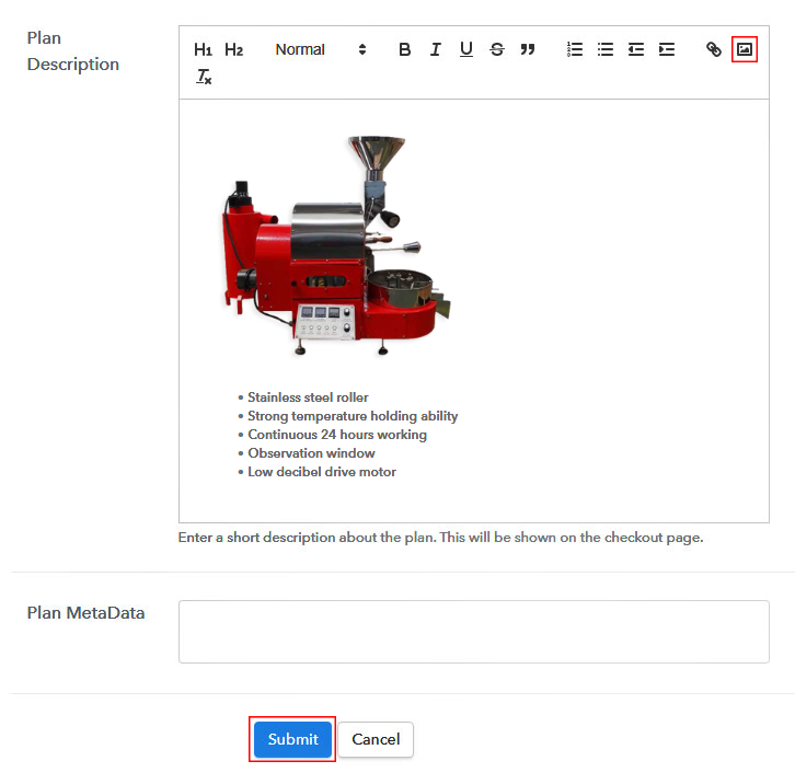 details of Coffee Beans Roasting Machine
