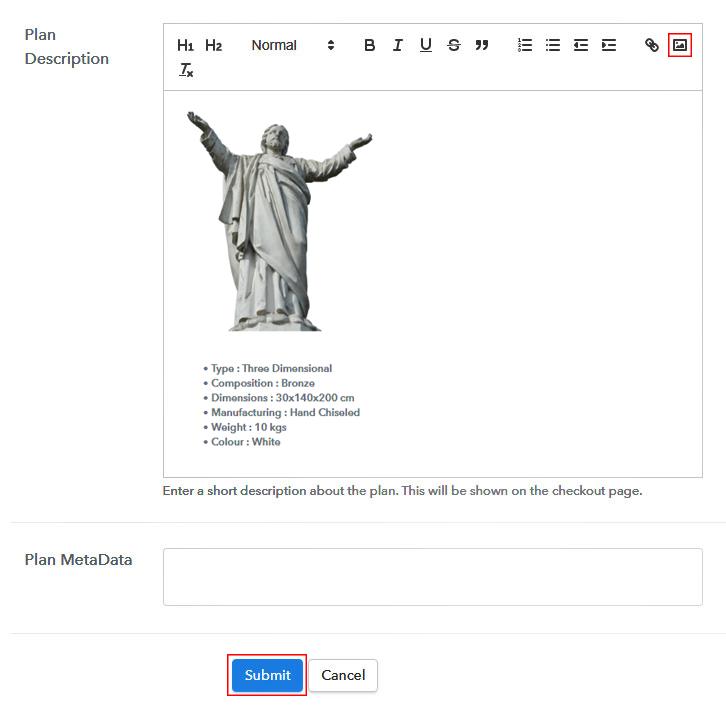 description to Sell Sculptures Online