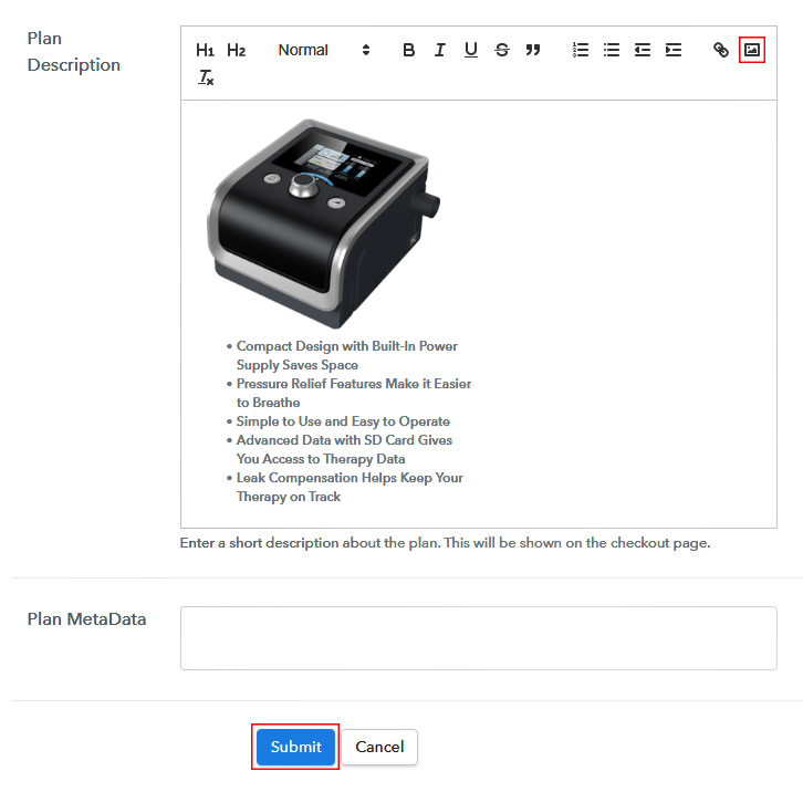 Add Image and Description to Sell CPAP Machines Online