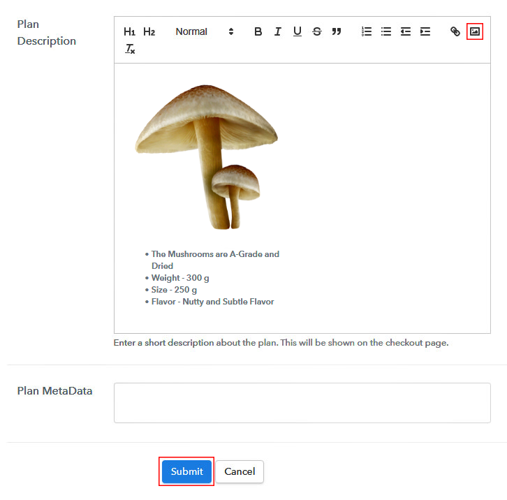 Add Image & Description to Sell Mushroom Online