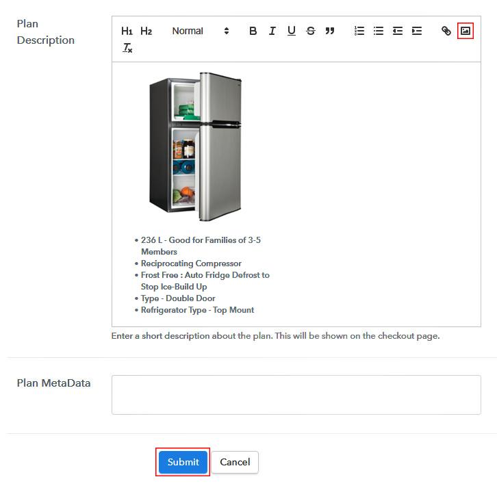 Add Image & Description to Sell Refrigerators Online