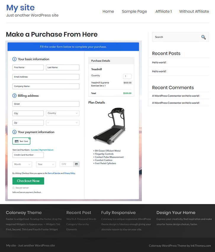 Embed on WordPress to Sell Treadmills Online