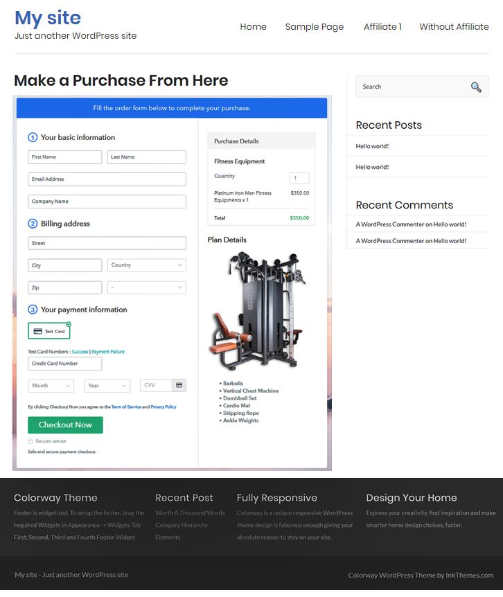 WordPress Embeding to Sell Fitness Equipments Online