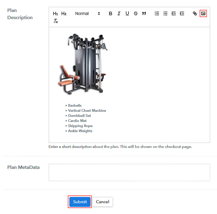 Add Description to Sell Fitness Equipments Online