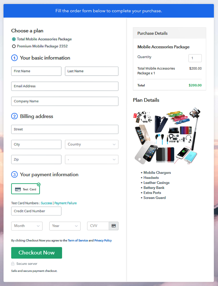 Multiplan Checkout to Sell Mobile Accessories Online