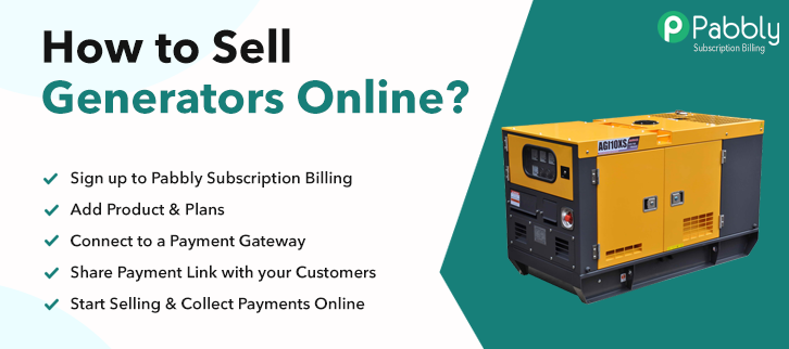 How to Sell Generators Online