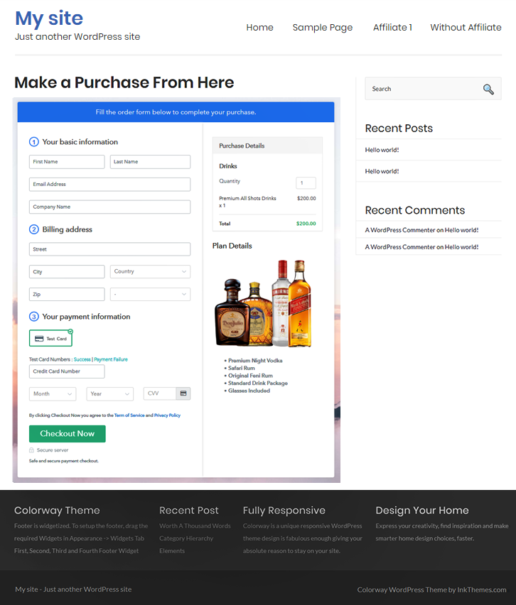 Embed to Sell Drinks Online