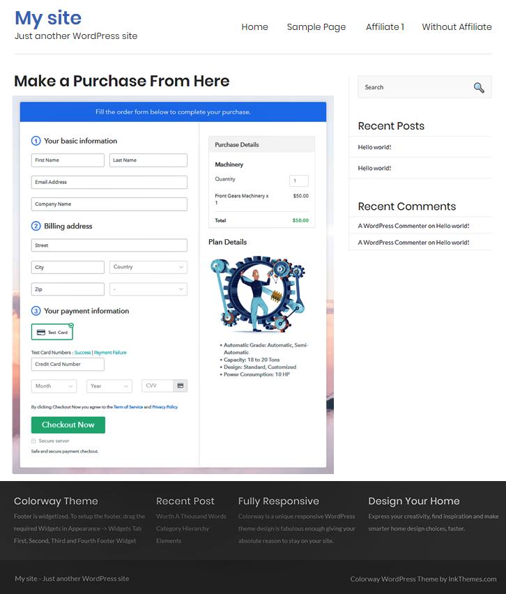 WordPress Embeding to Sell Machinery Online