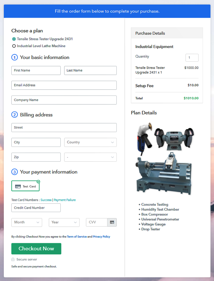 Multiplan Checkout to Sell Industrial Equipment Online