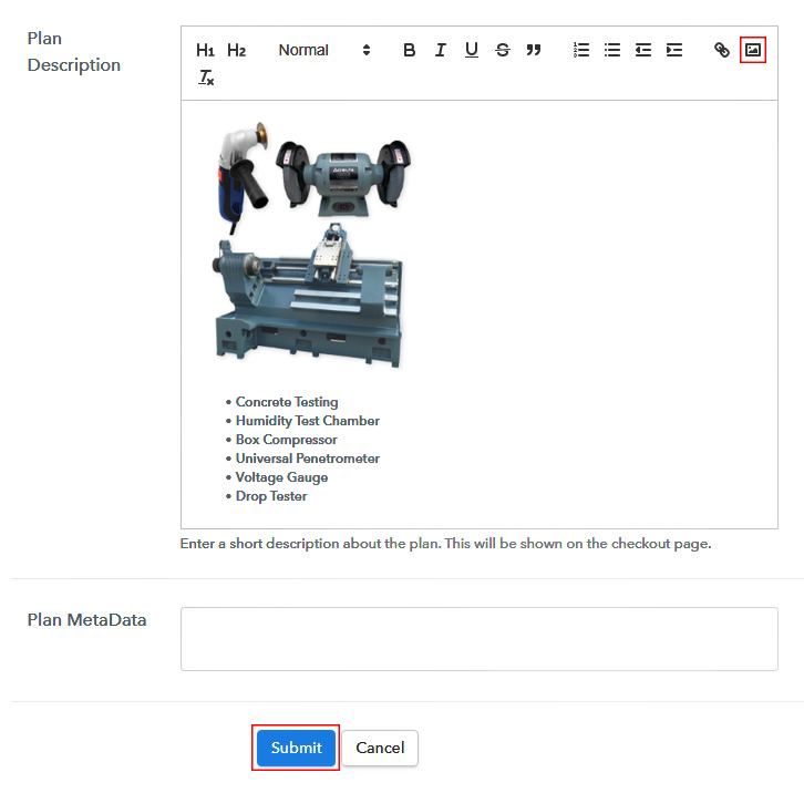 Add Description to Sell Industrial Equipment Online