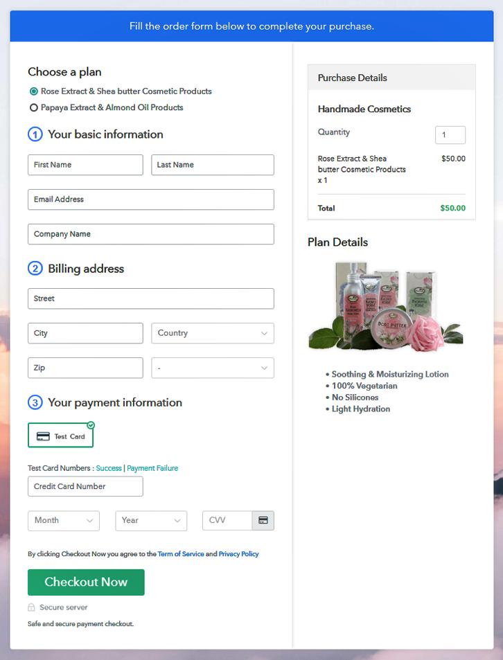 Multiplan Checkout To Start Handmade Cosmetics Business Online