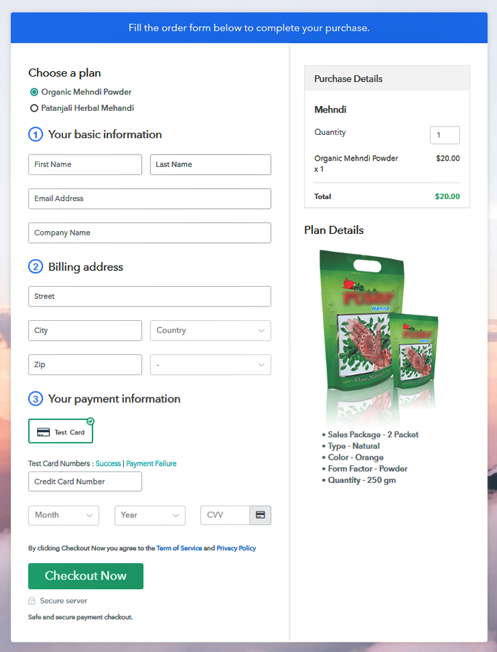 Multi Checkout to Sell Mehndi Online