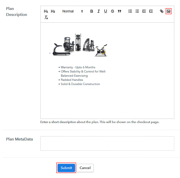 Add Image to Sell Exercise Equipment Online