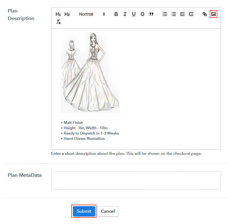 Add Image to Sell Fashion Designs Online
