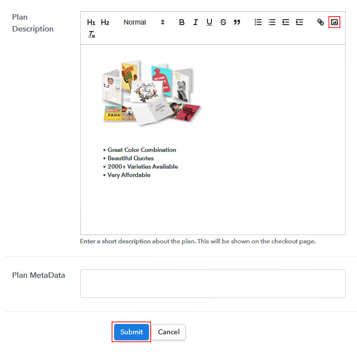 Add Image to Sell Greeting Cards Online