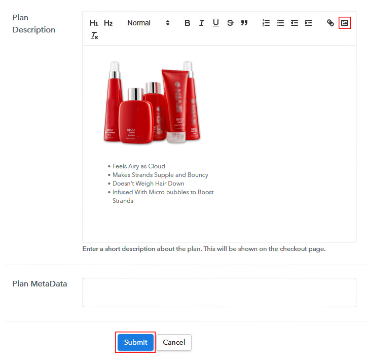 Add Image to Sell Hair Products Online