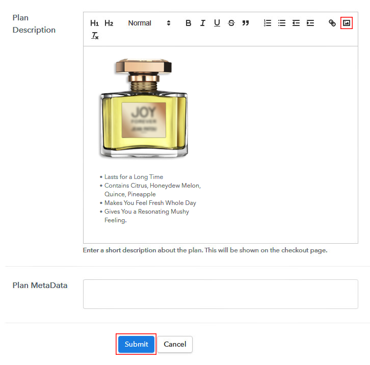 Add Image to Sell Perfumes Online