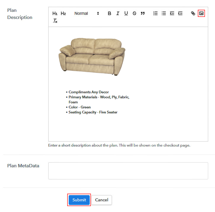 Add Image to Sell Sofa Online