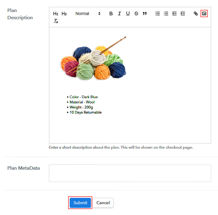 Add Image to Sell Yarn Online