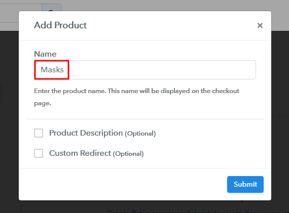 Add Product - Start Selling Masks Online