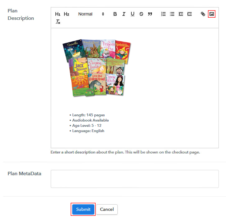 Add Image and Description to Sell Children Books Online