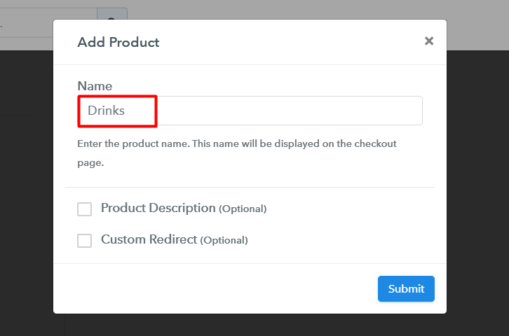 Add Products to Sell Drinks Online