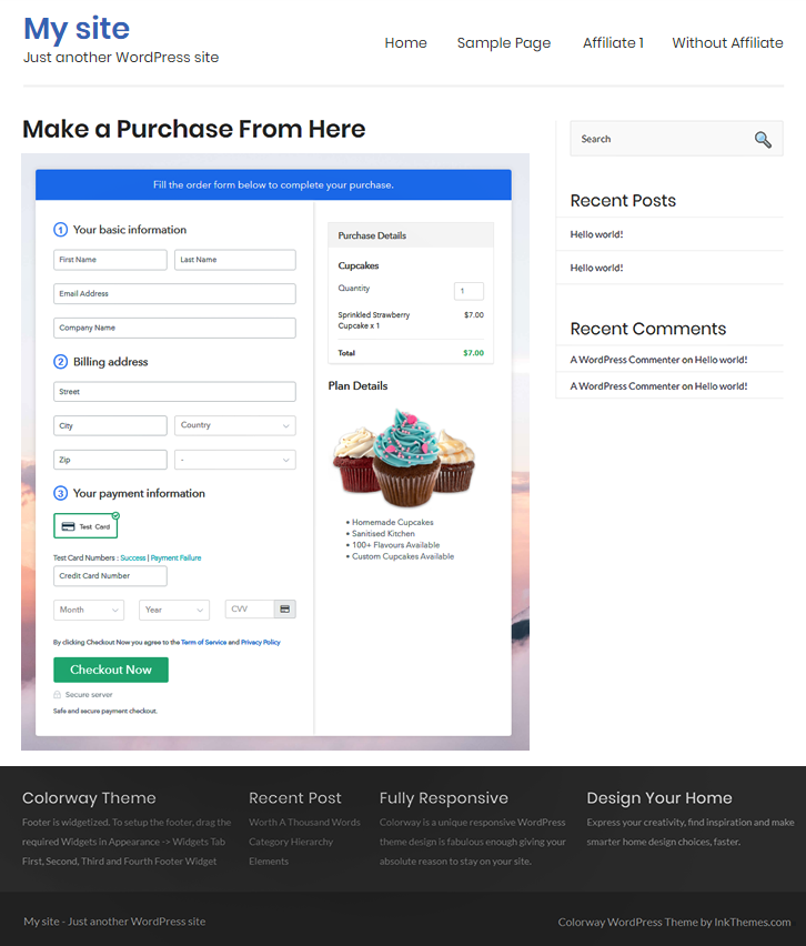 Embed Checkout to Website to Sell Cupcakes Online
