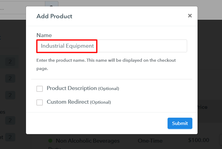 Add Product to Sell Industrial Equipment Online