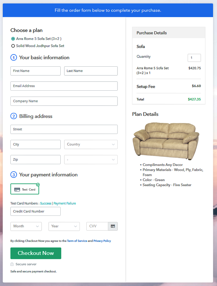 Multiplan Checkout Plan to Sell Sofa Online