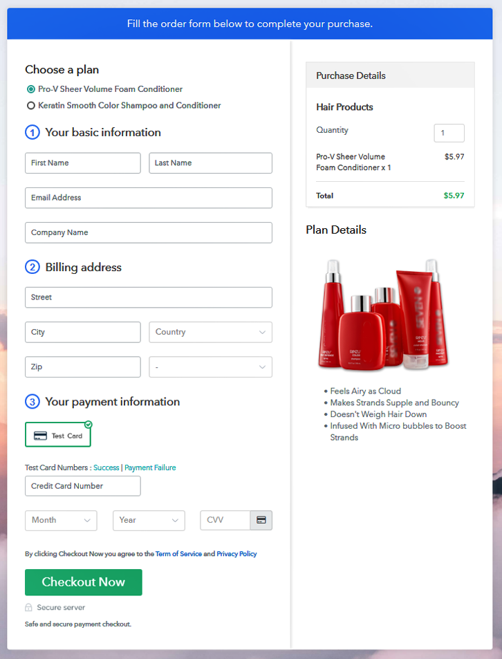Multiplan Checkout to Sell Hair Products Online