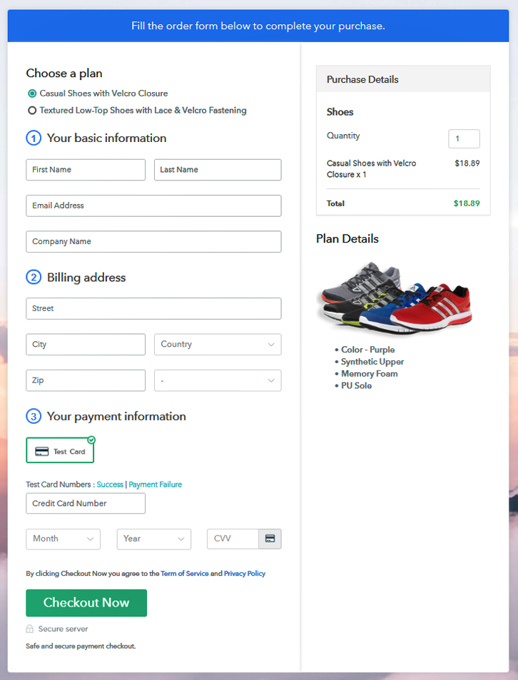 Multiplan Checkout to Sell Shoes Online