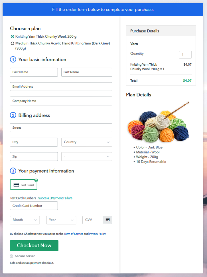 Multiplan Checkout to Sell Yarn Online