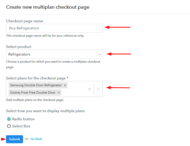 Add Plans to Sell Refrigerators from Single Checkout Page