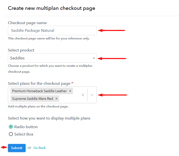 multiplan checkout to Sell Saddles Online