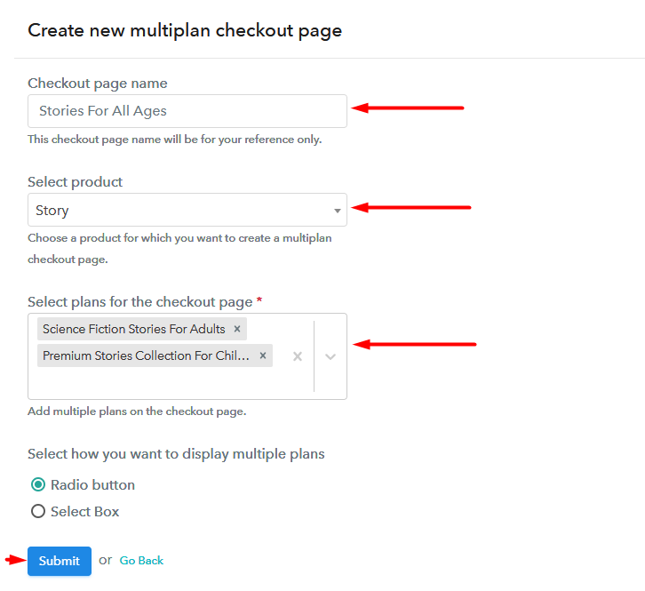 Multiple Checkout to Sell Stories Online
