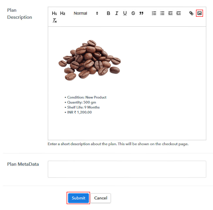 Add Image & Description to Sell Roasted Coffee Beans Online
