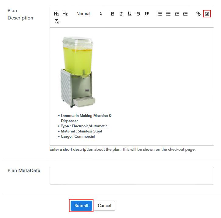 Add Image & Description to Sell Lemonade Maker Online