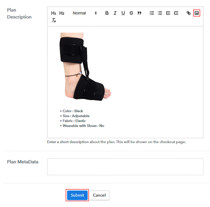Add Image & Description to Sell Foot Correctors Online