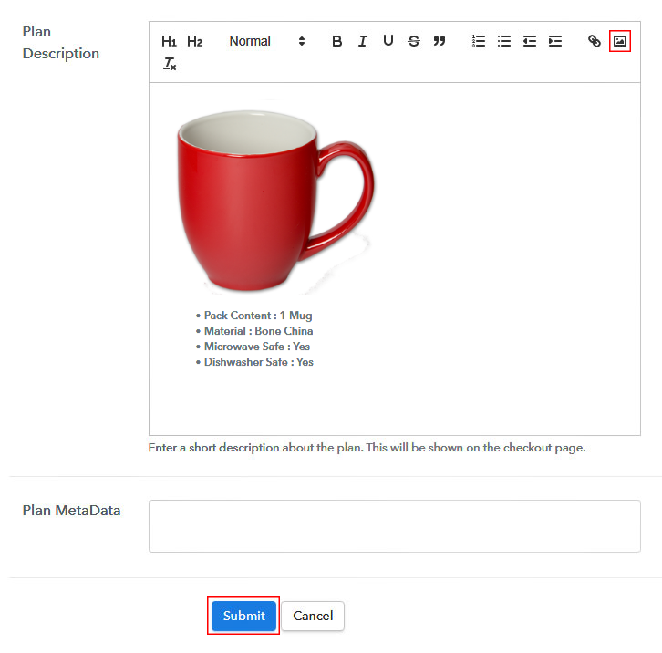 Add Image & Description to Sell Mugs Online